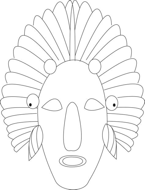 printable african art african mask coloring page coloring home