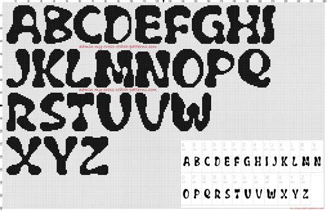font pattern html alphabet flubber font height 30 stitches cross stitch