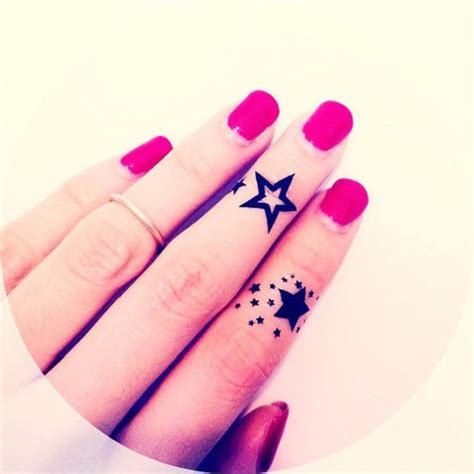 star tattoo on a finger 23 stars tattoos designs for your fingers