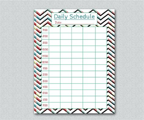 printable daily school schedule printable home school daily schedule funky by vlhamlindesign