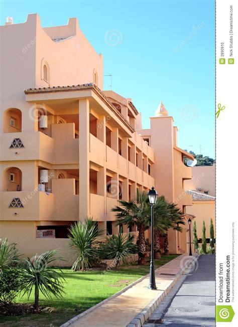 spanish appartment sunny spanish apartment block stock photo image 2890910