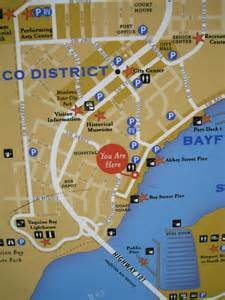 newport historic bay front map newport oregon you