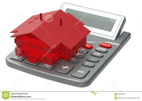 calculate house mortgage red house mortgage calculator stock illustration image 64094836