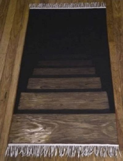 Rug That Looks Like Stairs Going freak out your guests with a rug that looks like stairs
