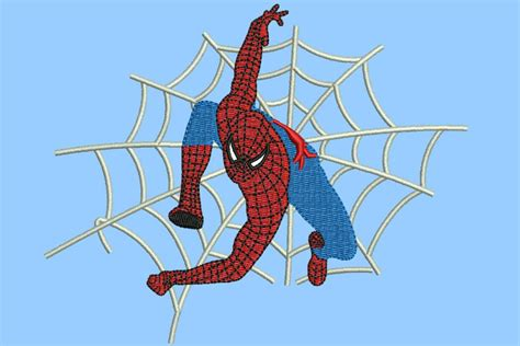 spiderman embroidery pattern spiderman embroidery pattern 5 sizes machine embroidery