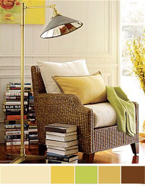 interior color schemes yellow green decorating
