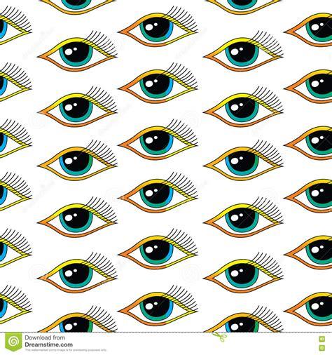 seamless eye pattern seamless one eye pattern stock vector image of optical