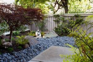 Asian Landscape And Yard With Exterior Stone Floors By