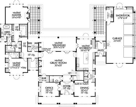 rambling ranch house plans plan 69079am rambling and rustic shingle style house plan