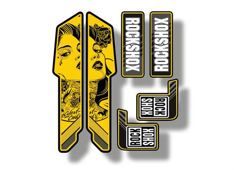 Rock Shox Stickers Ebay by Rock Shox Mountain Bike Cycling Decal Kit Sticker Adhesive