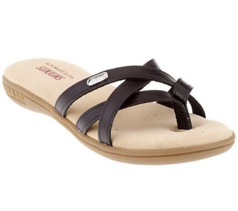 bass leather sandals for bass leather multi toe sandals page 1 qvc