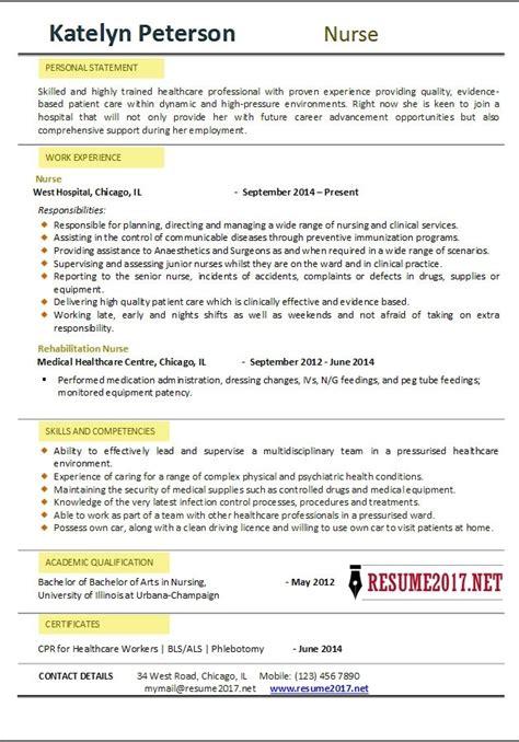 Nursing Resume Builder Template nursing resume template 2017 learnhowtoloseweight net