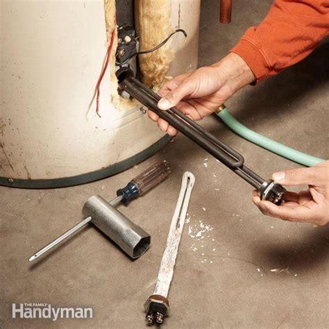 diy hot water heater repair heating element