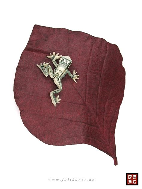 Money Frog Origami - dollar bill tree frog by origamikuenstler on deviantart