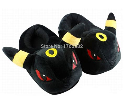 winter house slippers pokemon umbreon slippers for boys women winter warm house slippers shoes plush bedroom