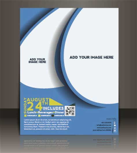 business flyer and brochure cover design vector free