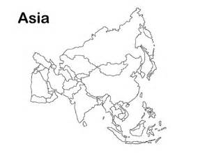 Asia Outline Map by Blank Map Of Asia To Print