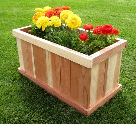 Planters Box Design by Redwood Planter Box Design Woodideas