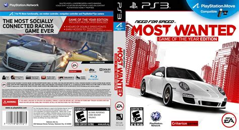 Dvd Original Playstation 3 Bluray Need For Speed capa need for speed most wanted of the year edition ps3 gamecover capas customizadas