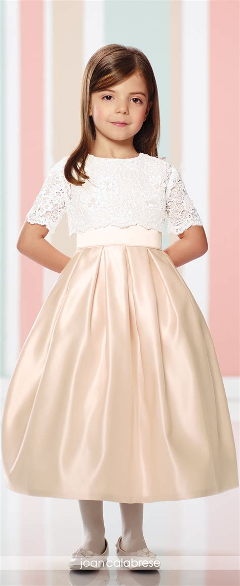 Set Cropped Jacket A Line Dress satin two communion flower dress 216301