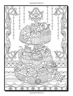 amazoncom delicious desserts  adult coloring book