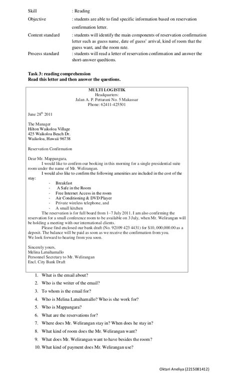 Confirmation Letter Booking Hotel Reservation Letter Hashdoc Confirmation Free Sle Letters Documents Hashdoc Hotel