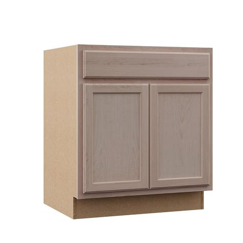 Kitchen Cabinet Unfinished Assembled 60x34 5x24 In Sink Base Kitchen Cabinet In Unfinished Oak Sb60ohd The Home Depot