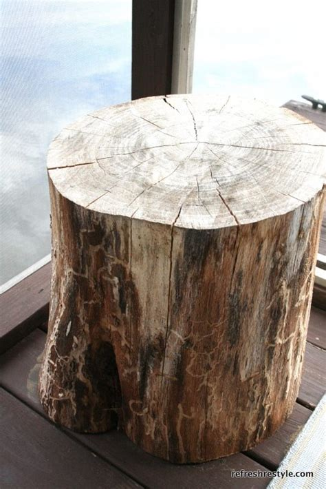 tree stump side table refresh restyle