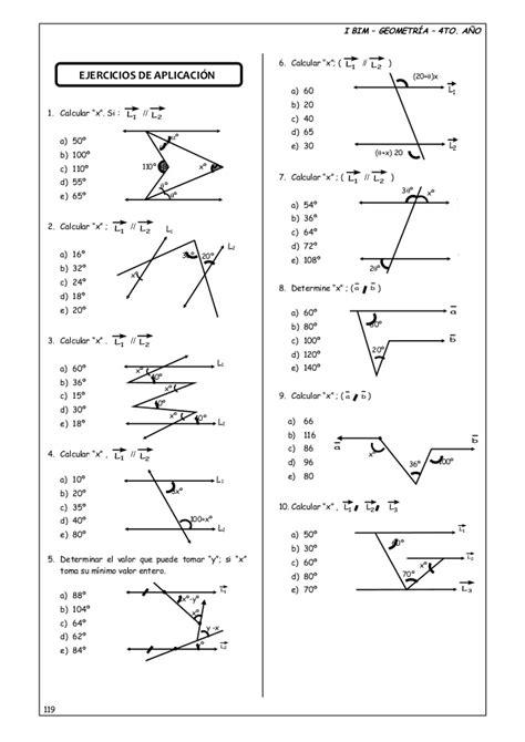 4 to año guia nº 2 - ángulos entre rectas paralelas