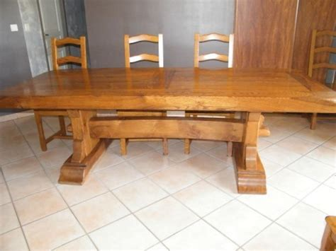 table monastere chene massif table monastere 2m50 8 chaises chene massif meuble d