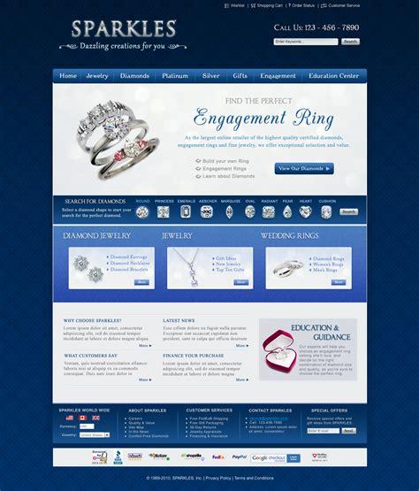 web layout jewellery jewelry website design by ujala on deviantart