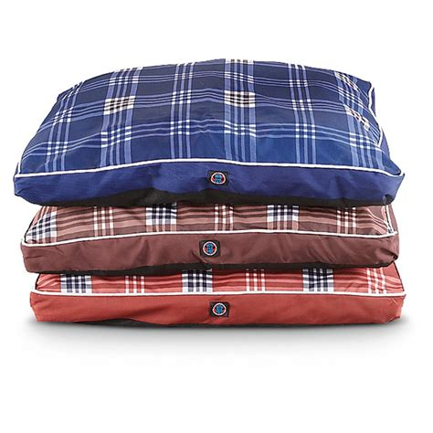 plaid dog bed 2 pk of large plaid print dog beds 227870 kennels