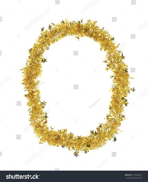 yellowing on white tinsel yellow tinsel number 0 stock photo 167894201