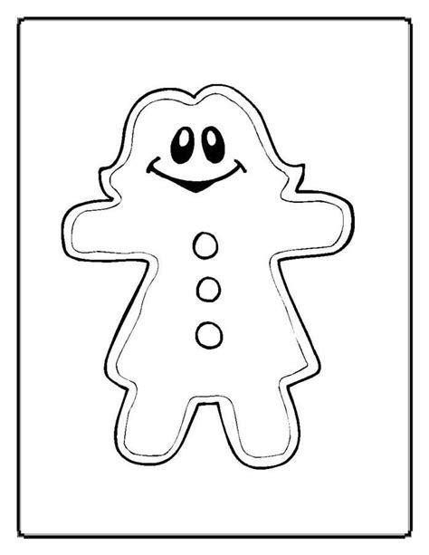 free coloring pages of baby gingerbread