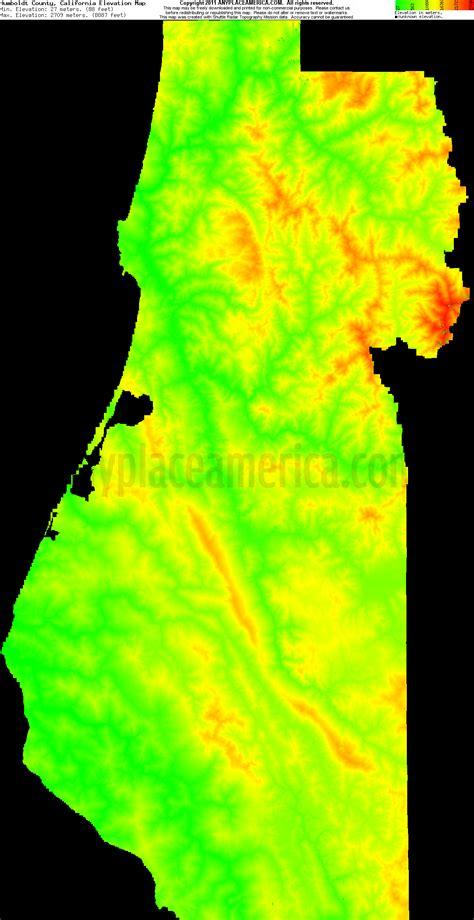 elevation map california free humboldt county california topo maps elevations