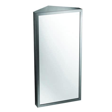 corner medicine cabinet with mirror corner medicine cabinet polished stainless steel mirror door