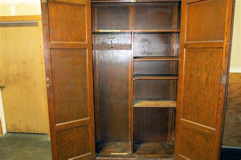 Large Wardrobe Cabinet Lot 114 Large Wooden Cabinet Wardrobe Wirebids