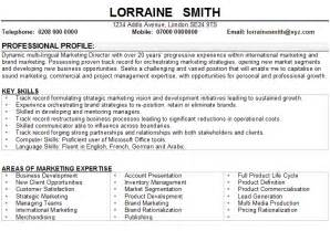 marketing manager cv sample