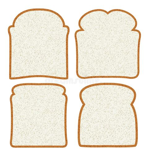 carbohydrates 1 slice bread vector white bread slices stock vector image of