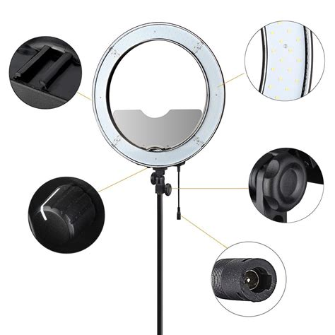 es240 18 quot 5500k dimmable led adjustable ring light with