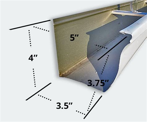 5 Seamless Gutters by Gutter Sizes Gary Cross Eavestrough