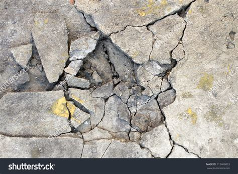 Cracked Concrete Texture Closeup Background Stock Photo