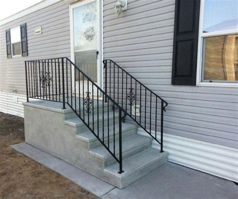 premade banister everything you need to know about mobile home steps pre