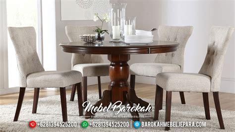 Kursi Makan Elegan kursi makan set minimalis jati elegan mewah
