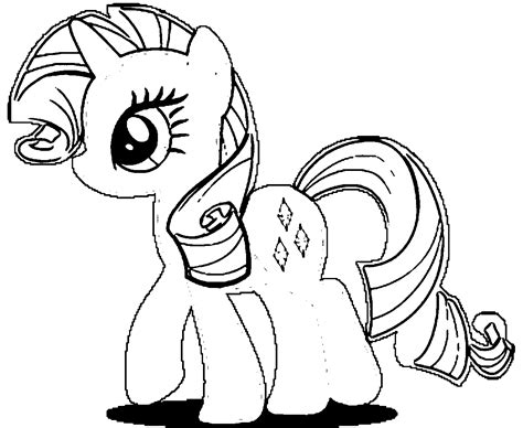 my little pony coloring pages friendship is magic rarity