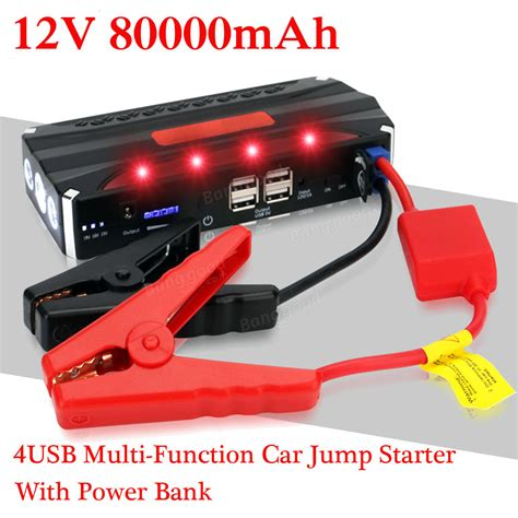 Power Bank Fifan 80000mah 80000mah 12v car jump starter power bank rechargable battery 4usb multi function sale banggood