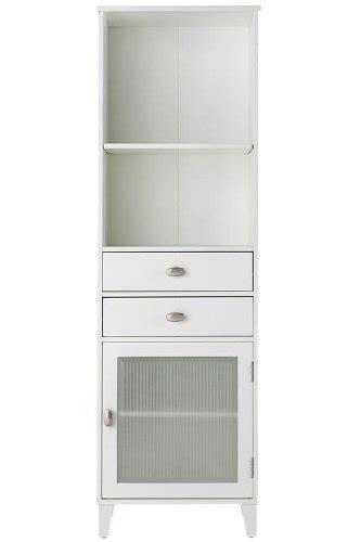 Linen Storage Cabinet With Doors Moderna Linen Storage Cabinet With Glass Door 65hx20wx14d White Furniturendecor