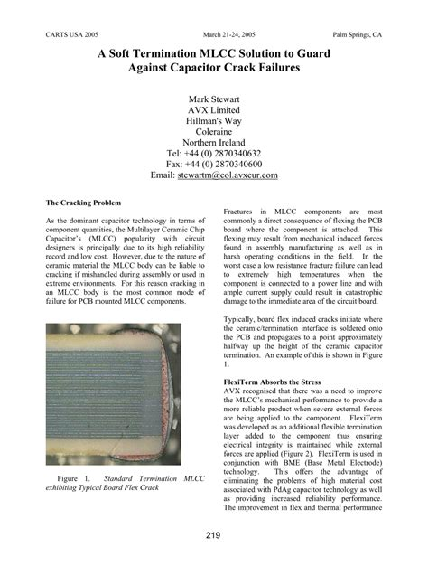 ceramic resistor cracking a soft termination mlcc solution to guard against capacitor failures pdf available