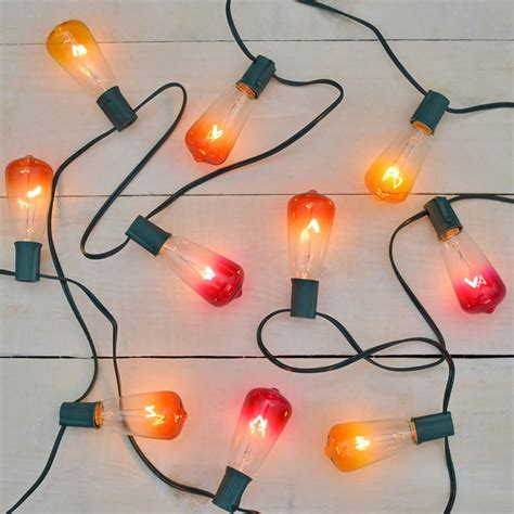 edison style christmas lights set of 10 multi color ombre st40 edison style lights