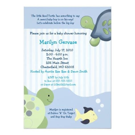 Turtle Baby Shower Invitations by 405 Best Turtle Baby Shower Invitations Images On